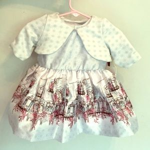 Baby girls party dress- with little jacket
